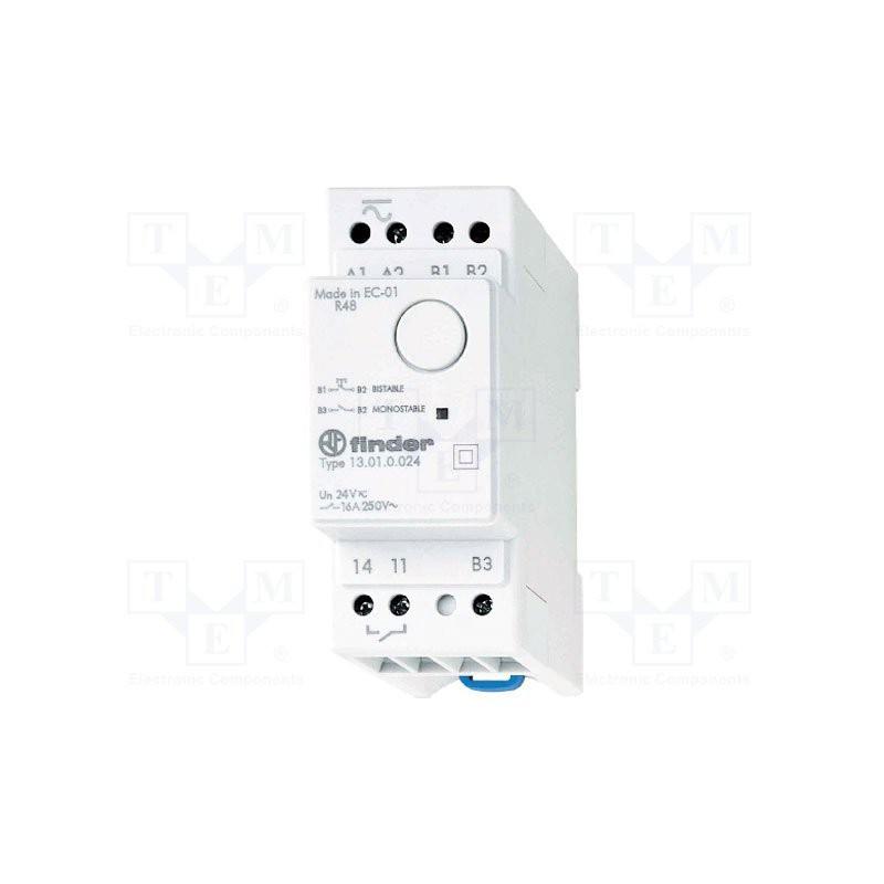 FINDER 13.01 Relais monostable à impulsions ou électronique 12V AC DC contacts 16A 250V