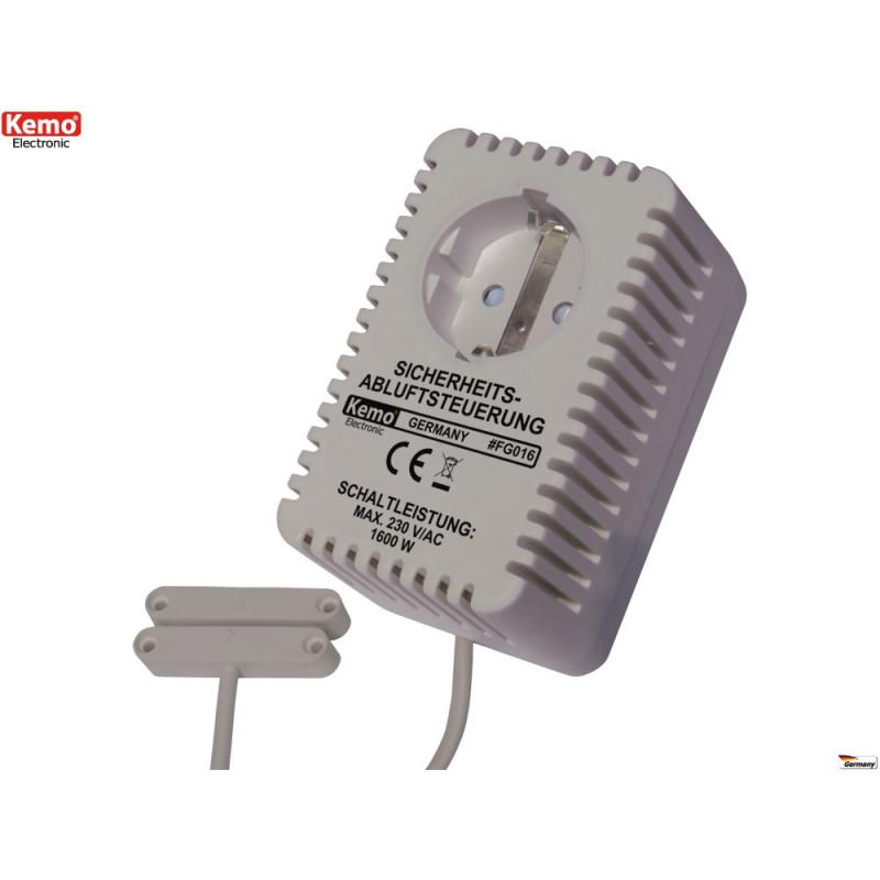Schuko socket with magnetic sensor control door window smoke extraction