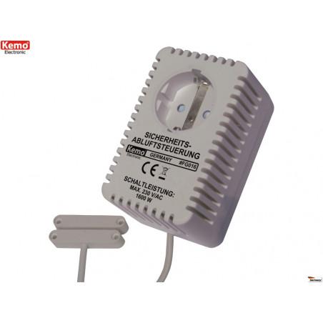 Schuko-Steckdose mit magnetischer Sensorsteuerung Türfenster Rauchabzug