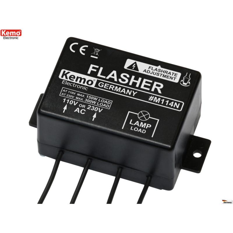 Steuergerät 4 Lichter max 300W Schieben 230V einstellbare Geschwindigkeit