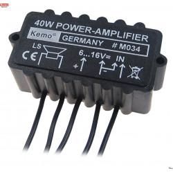 Amplificador de potencia de audio compacto de 40 W 4 - 8 ohmios 6-16 V CC