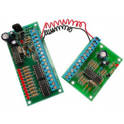 REMOTE CONTROL KIT 10 CONTACTS on 2 WIRES 50m 12-15V AC DC