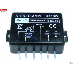 Amplificatore audio stereo 1,5W compatto 8 – 32Ohm 3-10V DC