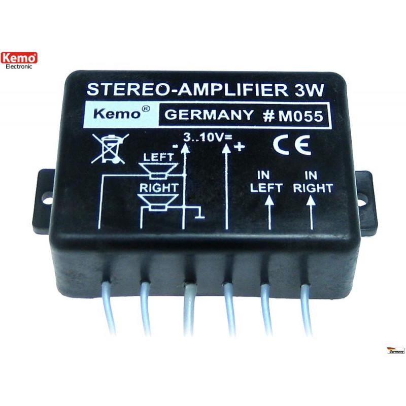 Amplificatore audio di potenza 40W compatto 4 – 8 Ohm 6-16V DC