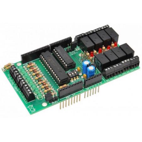 KIT Shield Arduino espansione bus I2C con IO 8 IN + 8 OUT Relè