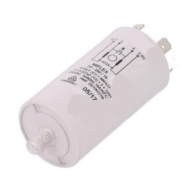 Filtro di rete antidisturbo EMI per elettrodomestici 250VAC MIFLEX FP-250/16-27N