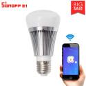 Sonoff B1 Lampadina WiFi RGBW LED 6W dimmer controllo APP eWelink Android iOS