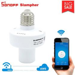 Sonoff Slampher 433 MHz RF Smart WiFi Portalampada passante E27 controllo luce