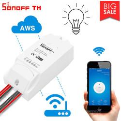 Sonoff TH10 TH16 Interruttore Wifi 10A 16A 250V + ingresso per sensore ambiente