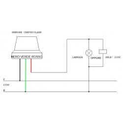 Interruptor crepuscular de 230 V para uso en exteriores con ajuste de brillo