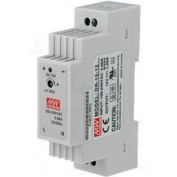 Fuente de alimentación de barra DIN conmutada universal estabilizada 12V DC 1,25A DR-15-12