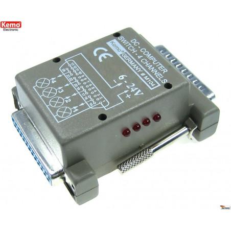 Interfaccia uscita 4 canali porta parallela LPT PC 6 – 24V DC 2A software incluso
