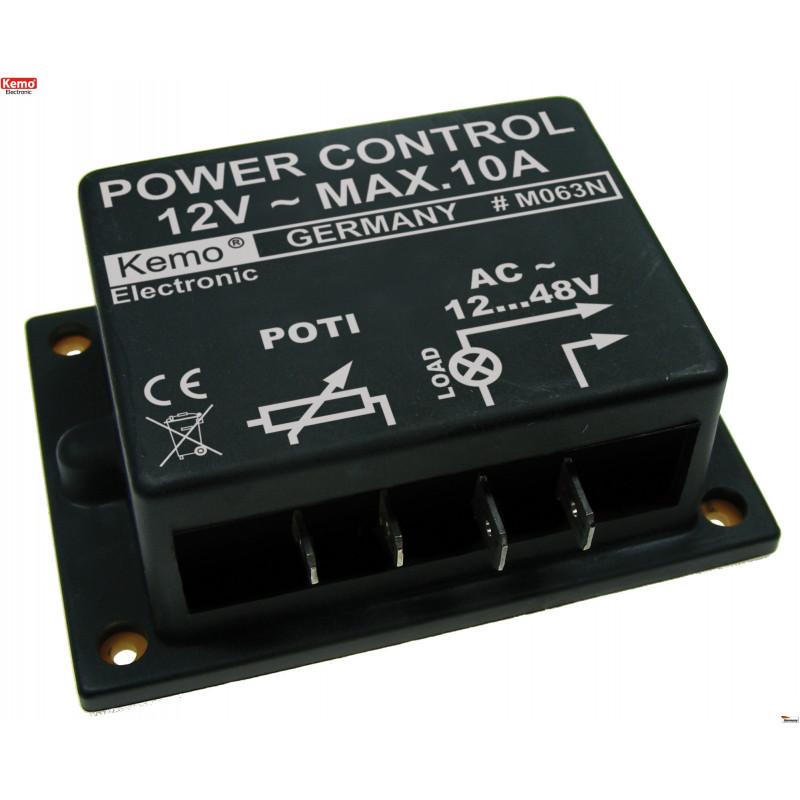 POWER CONTROL 12V AC 10A pour moteurs, chauffages et transformateurs