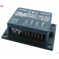 Botones de arranque y parada del temporizador monoestable 12V DC ajustable 2sec- 23min con salida de relé