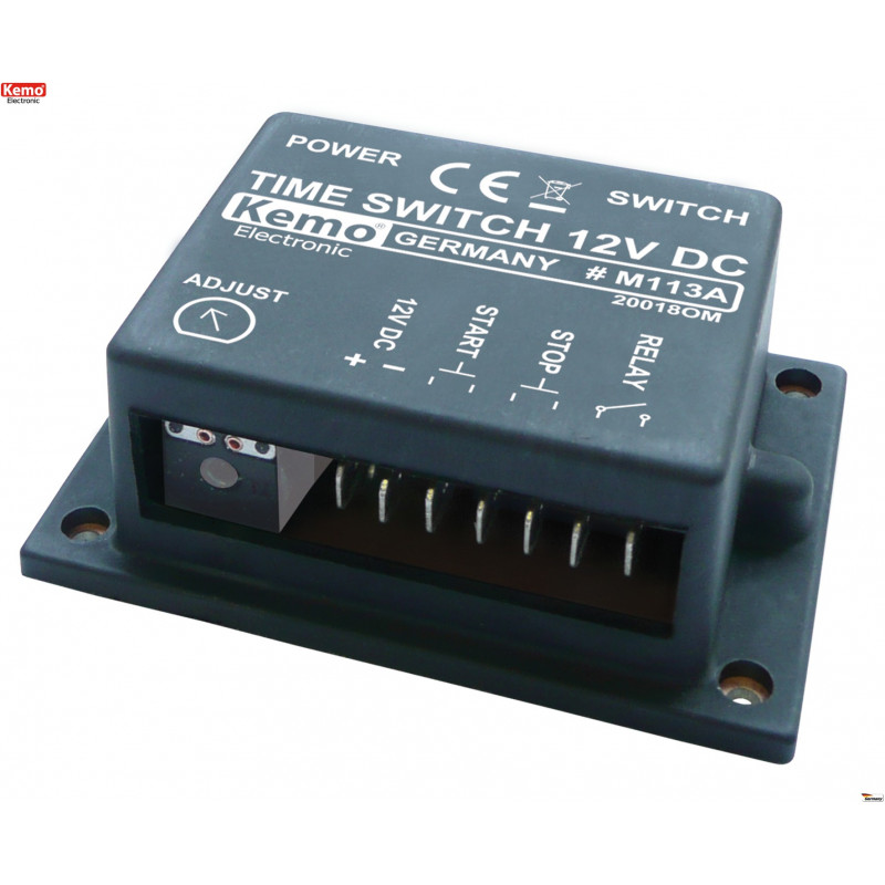 Boutons d'arrêt de démarrage de la minuterie monostable 12V DC réglable 2sec- 23min avec sortie relais