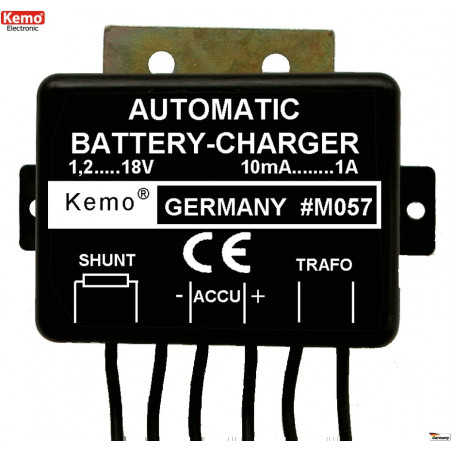Automatic battery charger for NiCd NiMH Lead and Lead GEL accumulators