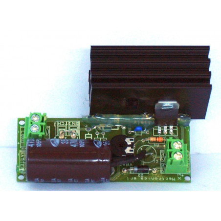 Variable power supply LM317 from 1.25V to 32V max current 1.5A with heatsink