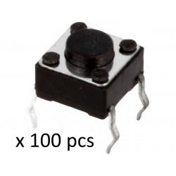 100 x Microcommutatore microswitch TACT SPST-NO 2 Posizioni 0,05A/12VDC THT