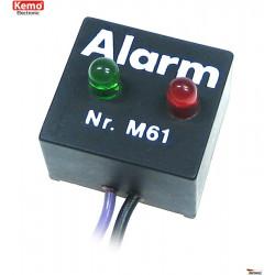Indicador de luz de flash disuasorio de alarma antirrobo de 12 V CC