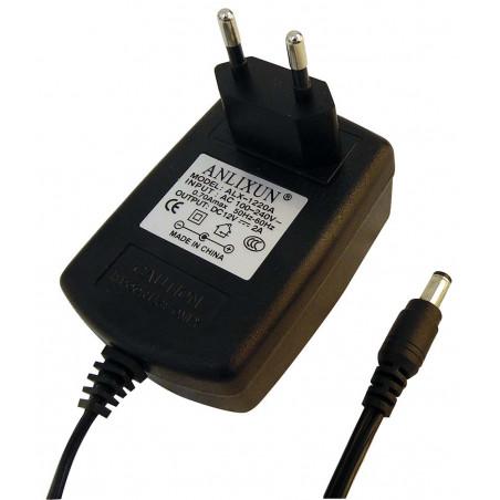 Fuente de alimentación conmutada enchufe estabilizado 12V DC 2A enchufe DC estándar