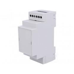 Custodia case 2 moduli guida DIN plastica PPO dimensioni 90 x 36 x 53mm grigio
