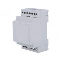 Custodia case 3 moduli guida DIN plastica PPO dimensioni 90 x 53 x 53mm grigio