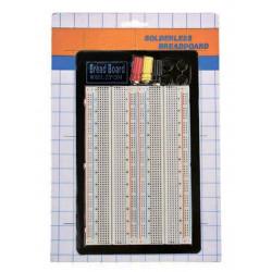 Bread Board scheda prototipizzazione con 1660 punti di connessione 165 x 110 mm