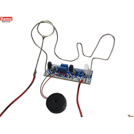 Classic electronic hand skill kit with ring and 9-12V DC wire
