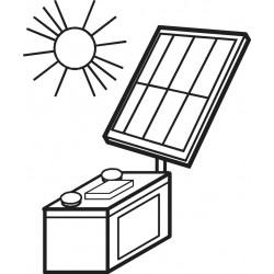 Regolatore di carica solare batteria piombo pannelli fotovoltaici 12V DC 6A