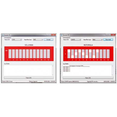 RICEVITORE USB DECODER RADIOCOMANDO RF 433,92MHz PC,  embedded, Raspberry PI