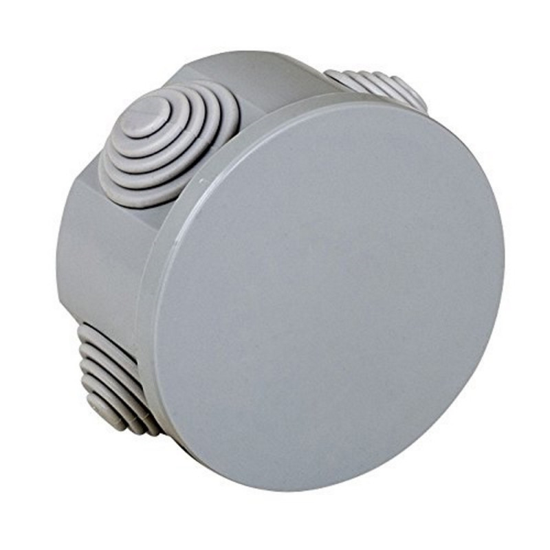 Scatola derivazione da parete D 65 x 35 mm  colore grigio Electraline 60550