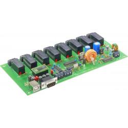 Scheda relè 8 uscite contatto NA NC COM 230 V/CA 16 A interfaccia RS232