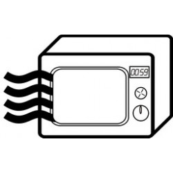 Safety tester for the presence of leaks. Microwave battery powered
