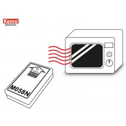 Comprobador de seguridad para la presencia de fugas. Microondas alimentado por batería