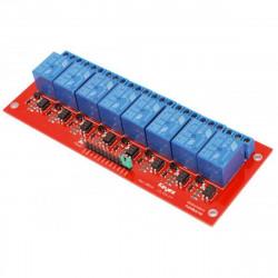 Modulo montato 8 relè bobina 5 Vdc contatti NA NC COM 250V 10A per Arduino