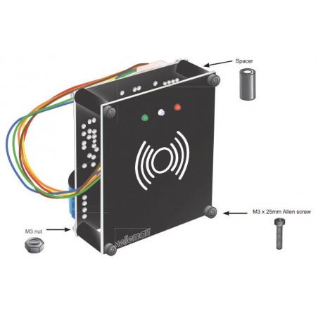 Cerradura electrónica, lector RFID, puerto USB, programación de usuario de PC