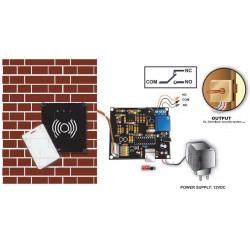 Serratura elettronica lettore RFID porta USB programmazione utenze PC