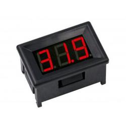 0-100 VDC 3 digit mini panel voltmeter with red LED display