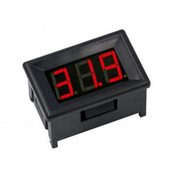 Mini Voltmetro da pannello 0-100 VDC 3 cifre con display a LED rossi