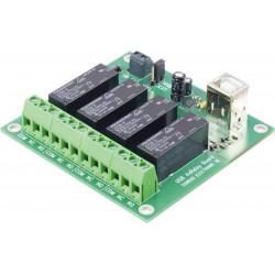 SALIDA Tarjeta de 4 relés NO NC COM 24V 9A Conexión USB Software para PC 5 V / DC