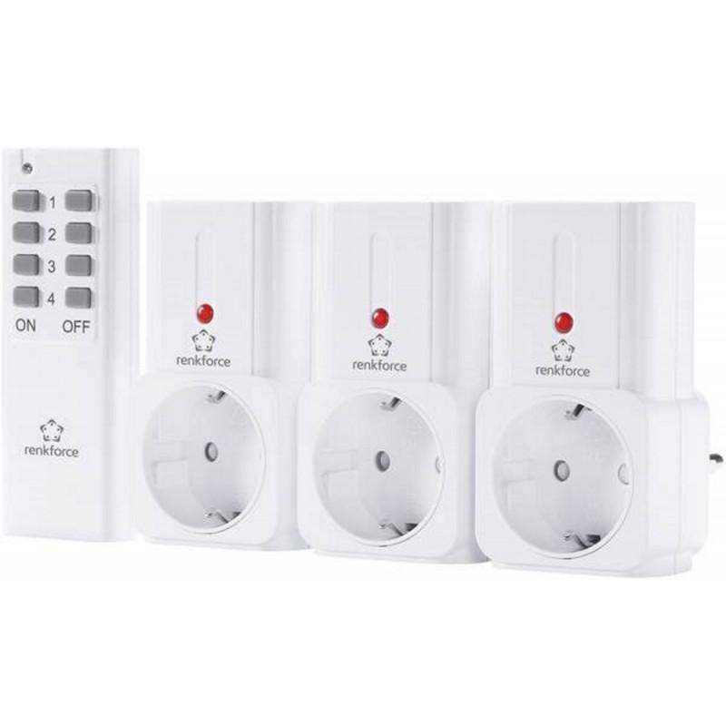 Telecomando aggiuntivo 4 canali per prese radiocomandate Avidsen con batteria