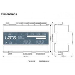 IONO SOLO - Interfaccia professionale I/O shield per board Arduino case barra DIN