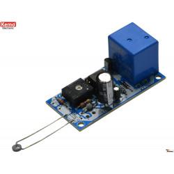KIT termostato caldo freddo soglia regolabile sonda NTC 12V DC con uscita a relè