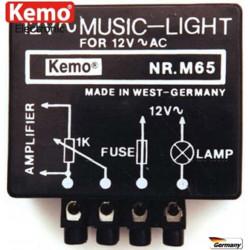 Lampeggiatore musicale per lampade alogene max. 50W 12V AC