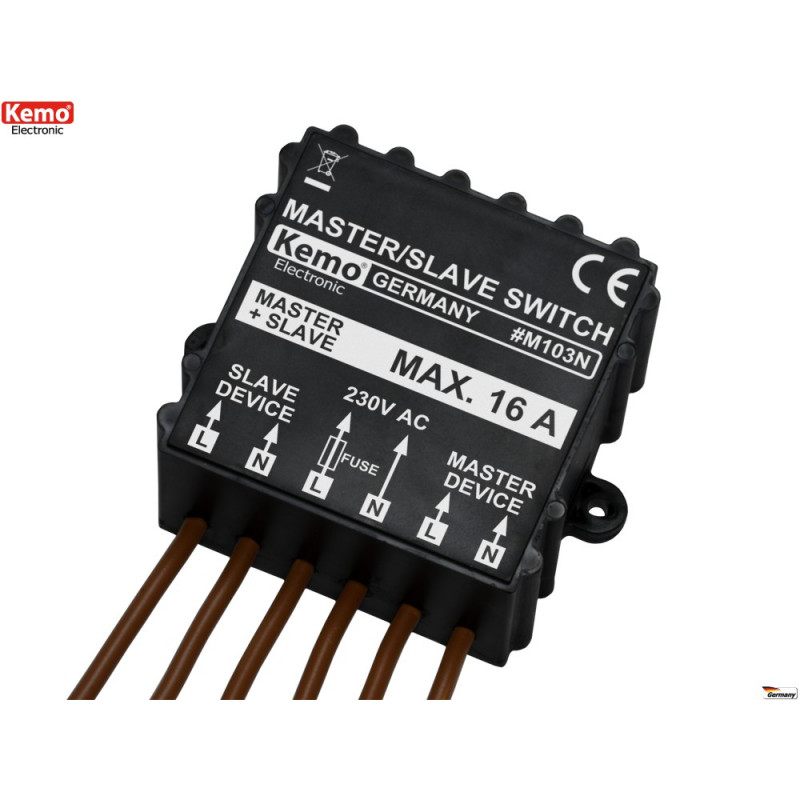MASTER SLAVE switch to activate 6 - 30V DC devices with Master active