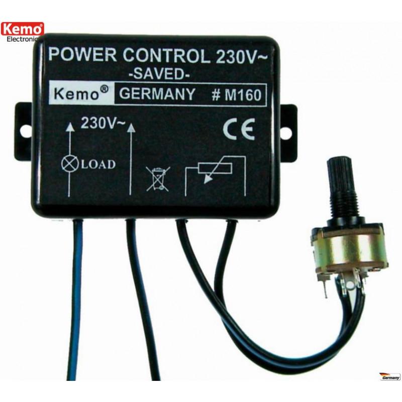 Control de potencia 230V AC 1,3A 300W arranque suave transformadores, luces, calentadores