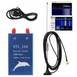 KIT SDR USB RTL2832U + R820T2 0,1-1700MHz logiciel RF DVB-T AM FM DAB HF VHF UHF