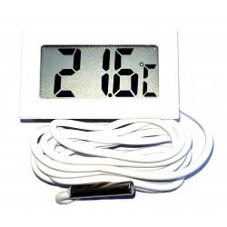 Termómetro de panel digital -20 ° C + 70 ° con batería blanca sonda 1m