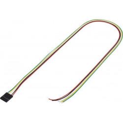Cavetto 50cm con connettore strip femmina totale di poli: 5 passo: 2,54 mm
