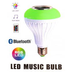 LED Music Bulb E27 LED RGB music bulb Bluetooth speaker remote control
